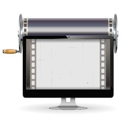 Computer Cinema Concept vector image vector image