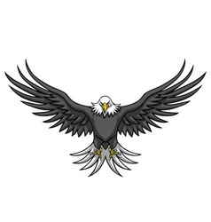 Eagle Mascot Spread The Wings vector image