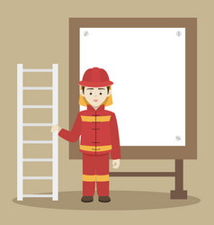 fireman isolated vector image