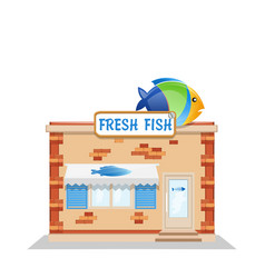 fish street shop vector image vector image