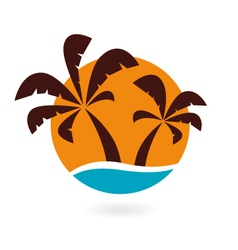 Palms icon vector image vector image