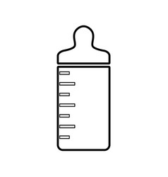 Bottle baby isolated icon vector