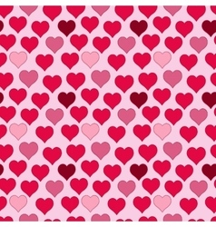 seamless pattern of red hearts valentines day on vector image