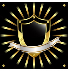black and gold vector image vector image