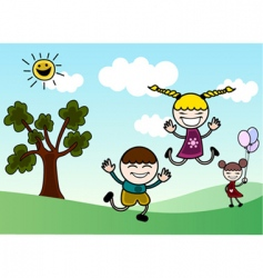 happy children vector image vector image