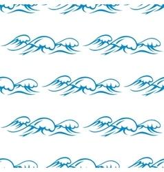 Blue ocean waves seamless pattern vector image vector image