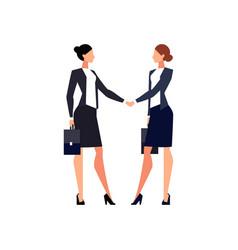 businesswomen shake hands isolated vector image