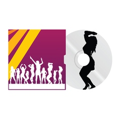 cd and cover with dancing girl vector image