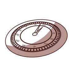 Shadow clock cartoon vector