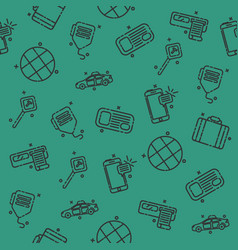 taxi set pattern vector image