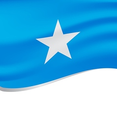 Waving flag of Somalia isolated on white vector image vector image