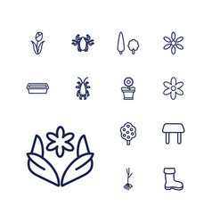 13 spring icons vector
