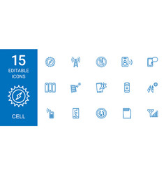 15 cell icons vector
