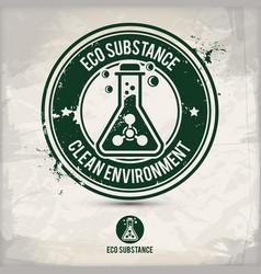 alternative eco substance stamp vector image