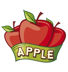 apple label design vector image