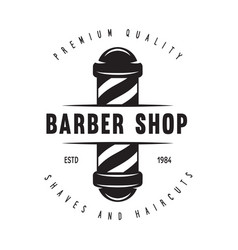 barber shop badge barbers hand lettering design vector image