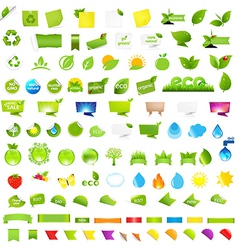 Big Nature And Eco Set With Labels vector image