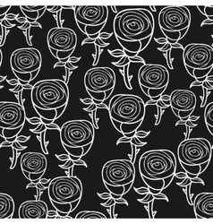 Black and white seamless pattern with romantic vector image