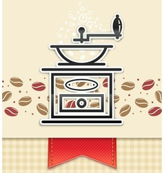 coffee grinder with coffee vector image