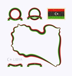 Colors of Libya vector image
