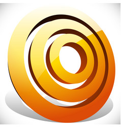 Concentric radial circles generic icon design vector
