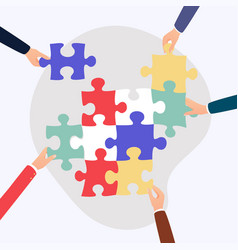 Concept teamwork and integration with vector