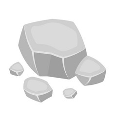 Copper ore icon in monochrome style isolated on vector