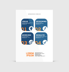 corporate design of paper flyer or brochure cover vector image