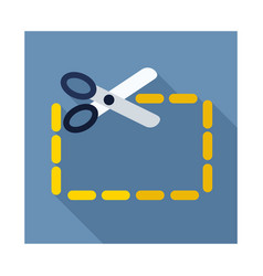 coupon cutting icon vector image