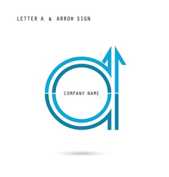 Creative letter A icon abstract logo design vector image