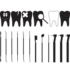Dentistry tools vector image