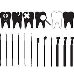 Dentistry tools vector