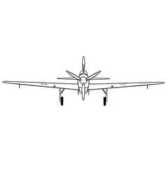 Fairey fulmar front vector