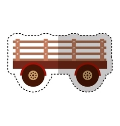 Farm carriage isolated icon vector