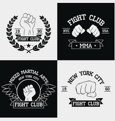 fight club graphics for t-shirt set vector image