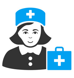 first-aid nurse flat icon vector image