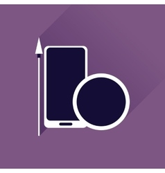 Flat web icon with long shadow mobile protection vector