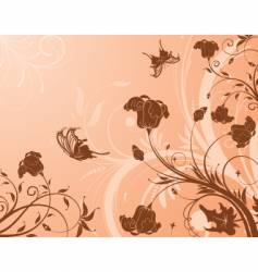 flower design background vector image