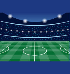 football stadium with filled tribunes vector image