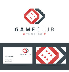 Game club or casino logo template with business vector image