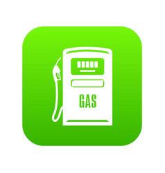 gas column icon green vector image