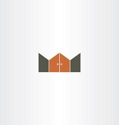 gate logo icon element vector image