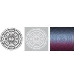 geometric mandala for coloring book square vector image