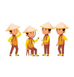 Group of character vietnamese children vector