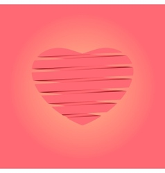heart origami background vector image