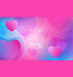 hearts wallpaper happy valentines day gradient vector image