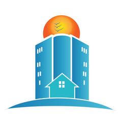 house buildings and city apartments icon vector image