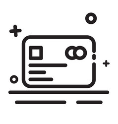 icon debit card credit card icon modern outline vector image
