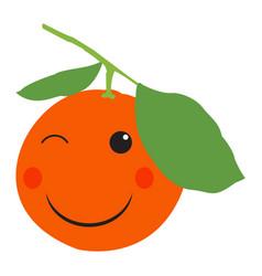 isolated happy orange vector image