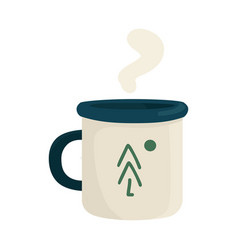 Isolated object mug and metal symbol set of vector